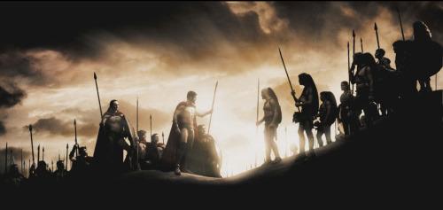 300: Leonidas bespricht die Lage