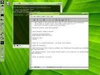 Green KDE desktop