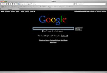 Google bleibt schwarz