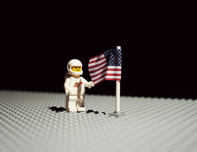 The first LEGO on the moon.